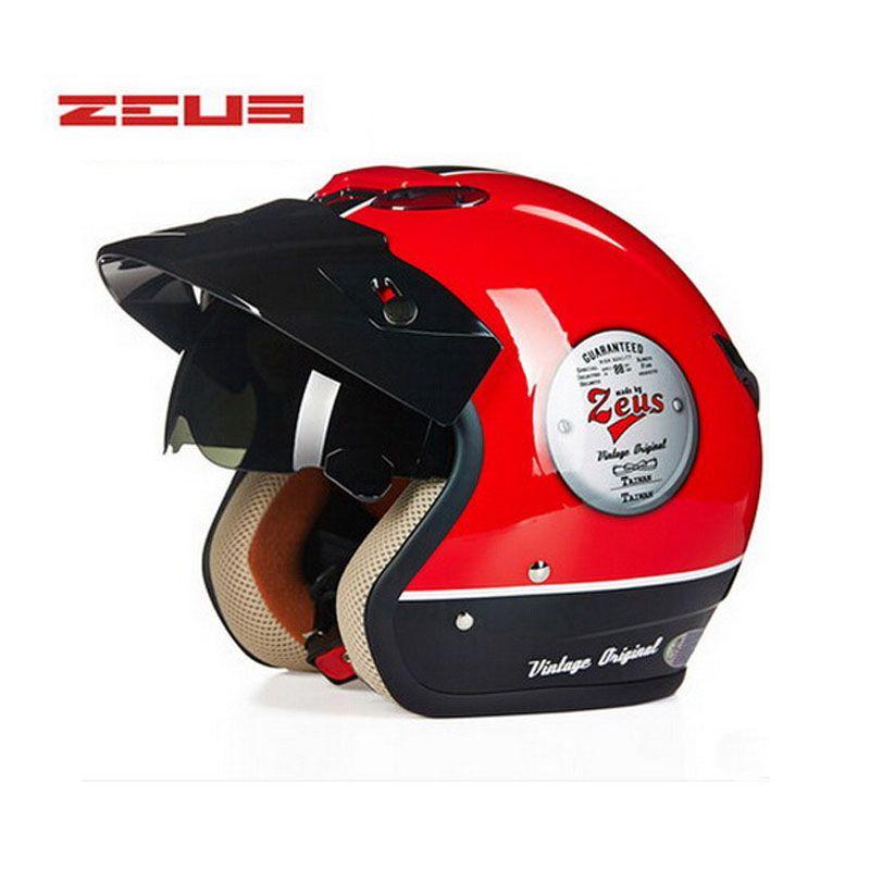 brand DOT ZEUS 381c Vintage motocross motorcycle helmet with Lining unpick wash, moto motorbike scooter helmet M L XL XXL