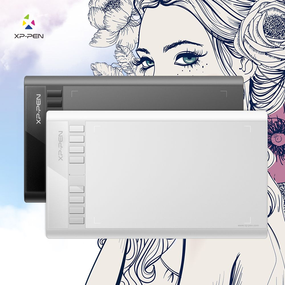 XP-Pen Star 03 Graphics <font><b>Drawing</b></font> Tablet with Battery-free PASSIVE Pen Digital Pen