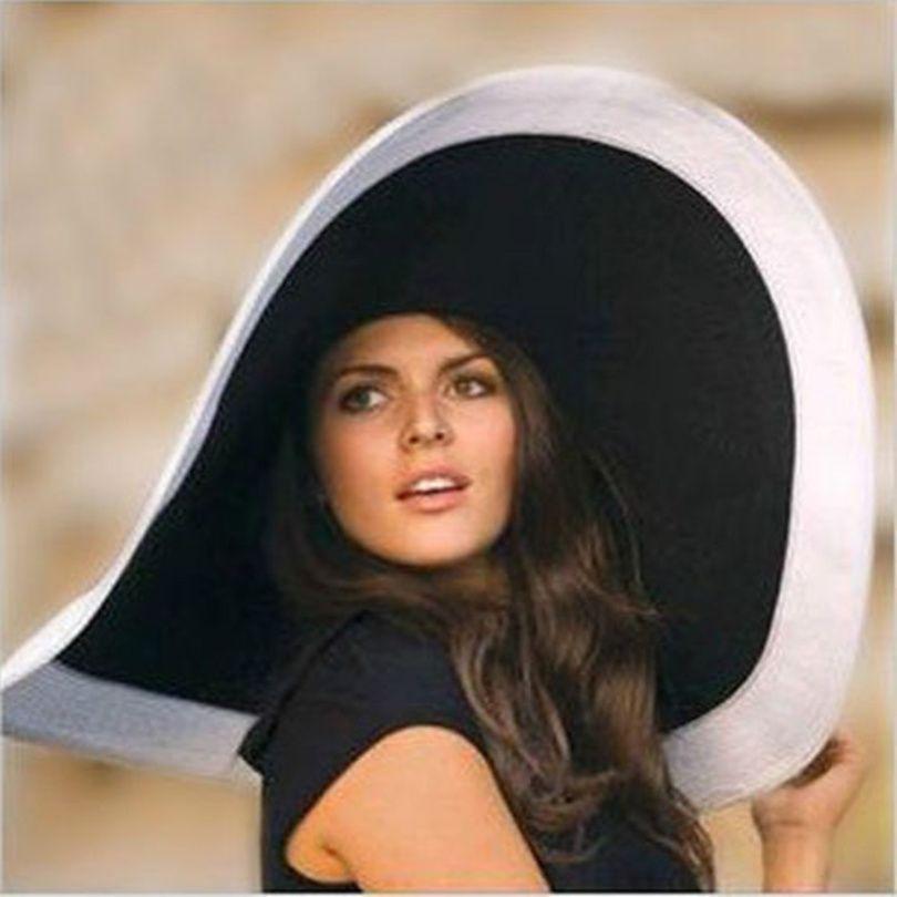 2017 nouveau femmes Large bord chapeau disquette Derby chapeau grand été plage soleil paille chapeau chapeau