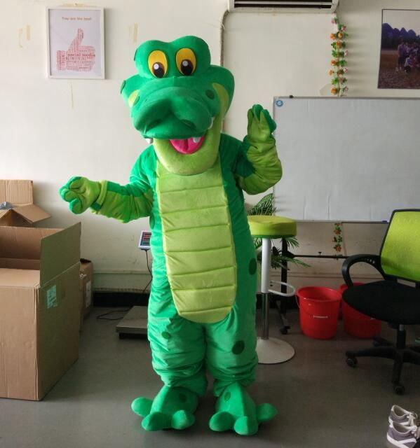 ohlees Actual real photo picture dinosaur crocodile cartoon character Mascot Costumes Halloween Christmas Birthday