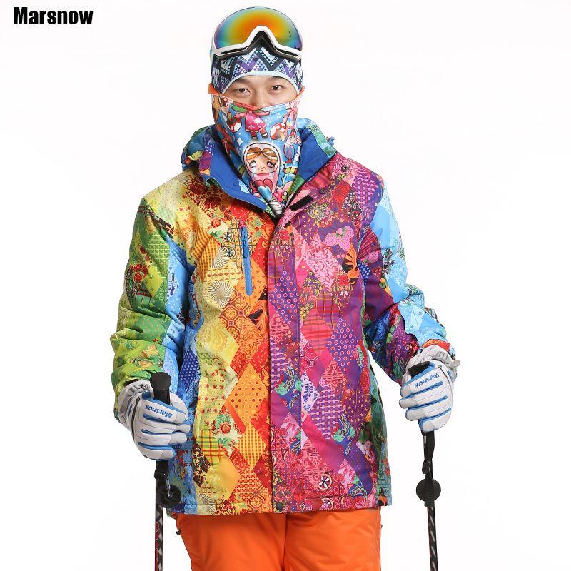 Dropshipping new Brand snow jacket waterproof windproof thermal thicken coat 2017 hiking camping climbing winter ski jacket men