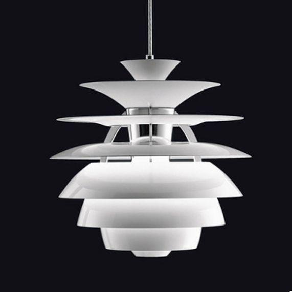 Moderne Weiß Snowball Form-schnur-lichter Anhänger Lichter Leuchte Nordic Aluminium Droplights D40cm AC90V-260V 180-GRAD-LICHT Bett Esszimmer Restaurant Lampen