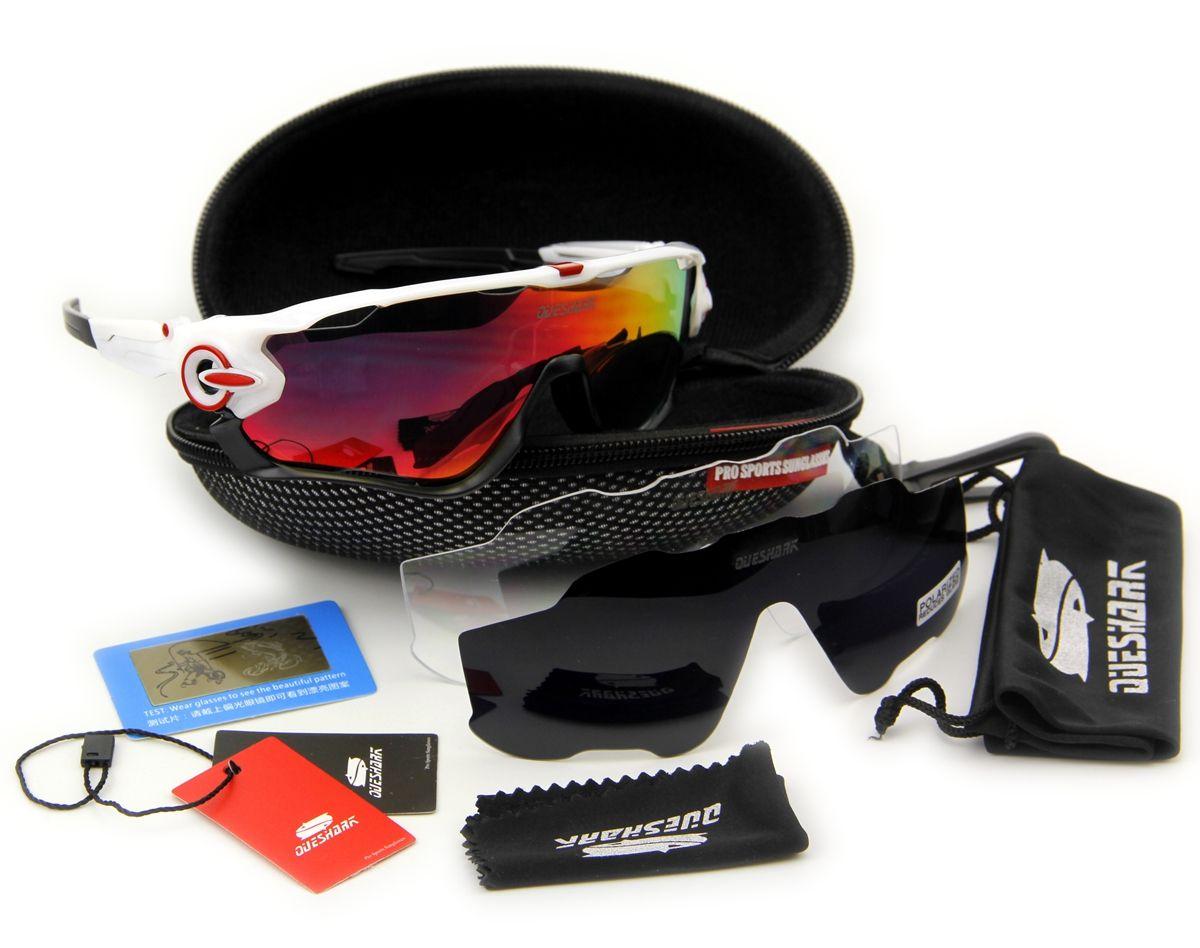 2017 Beliebtesten Queshark Marke TR90 Rahmen Polarisierte Sonnenbrille Für Radfahren Brillen Radfahren Fahrrad Sonnenbrille
