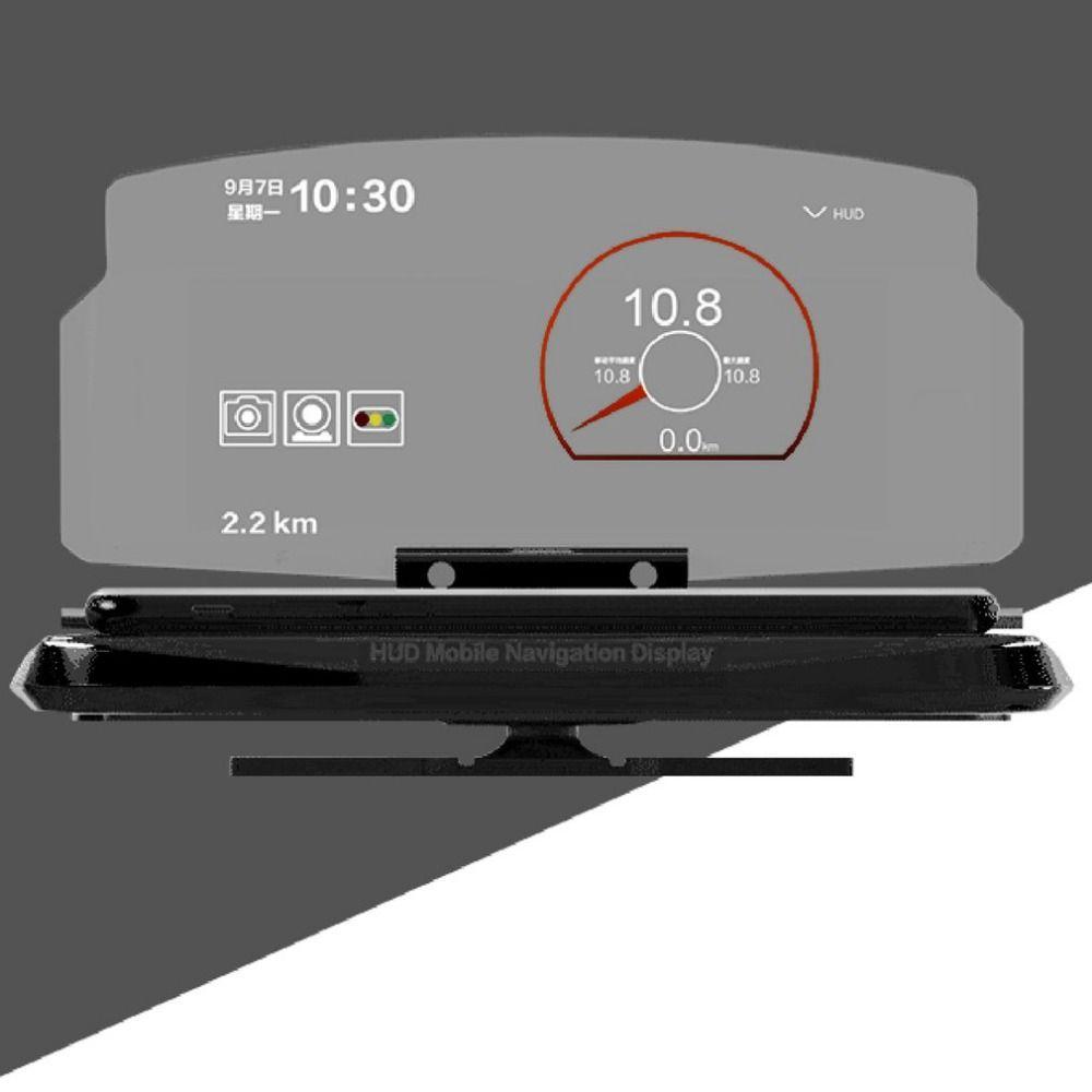 2017 Car HUD Head Up Display Mobile Phone GPS Navigation HUD Bracket For Smart Phone Car Stand Folding Holder