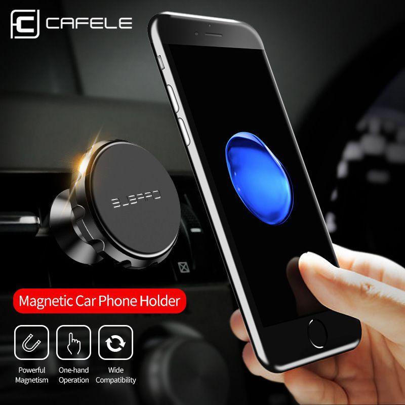 CAFELE Универсальный вентиляционное отверстие магнитные автомобильный держатель телефона с быстрой Swift-кнопки Технология Автомобильный держ...