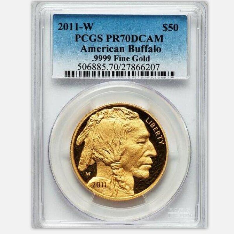 2011 wolfram münzen überzogene 1,5 gramm. 999 feine gold UNS Buffalo münze abgestuften PF70 1 unze mit origianl halter und fall