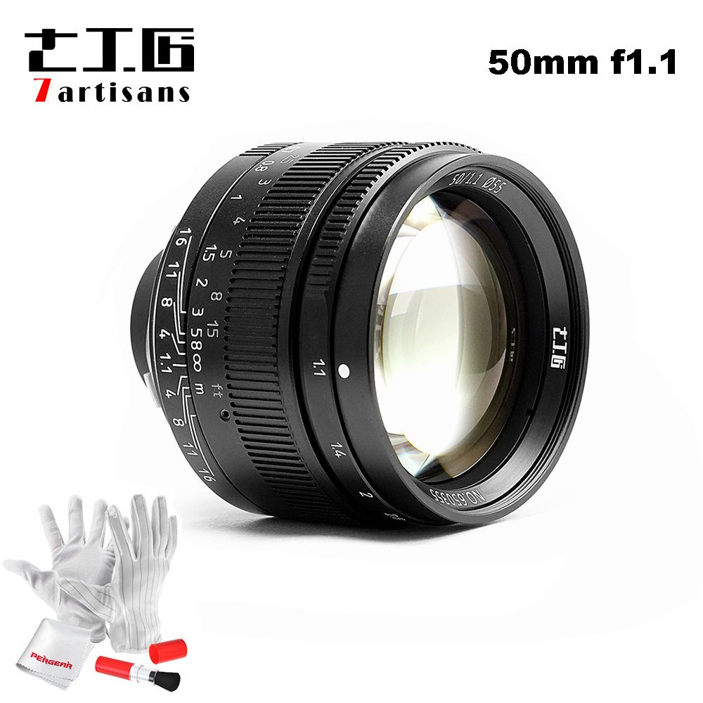 7artisans 50mm F1.1 M Mount Fixed Lens for Leica M-Mount Cameras M-M M240 M3 M6 M7 M8 M9 M10