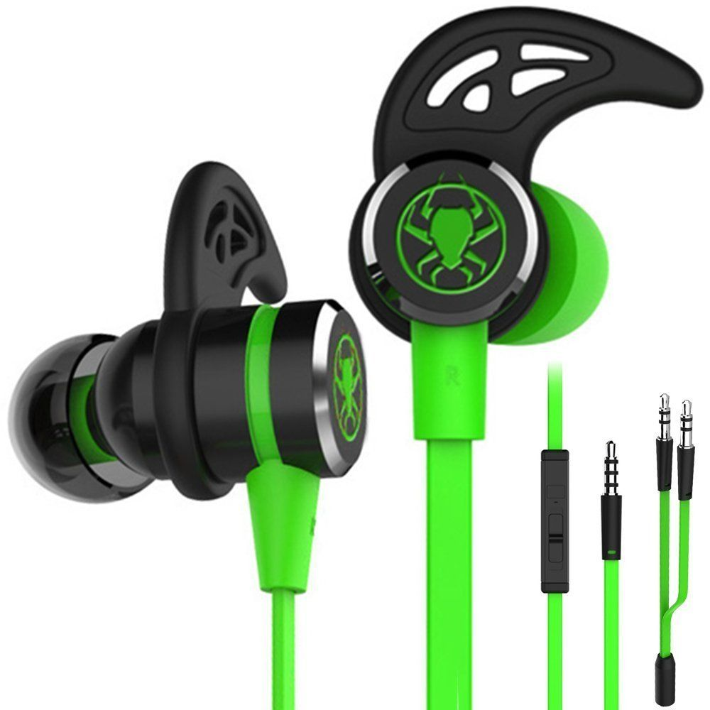 in-ear earphone 3.5mm gaming headset gamer deep bass wired flat earphones With Microphone For PUBG computer phone ps4 xbox one