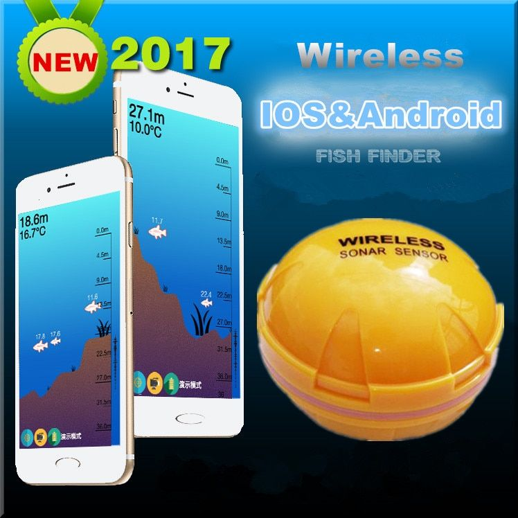 mobile phone fishfinder Wireless Sonar Fish Finder Depth Sea Lake Fish Detect iOS Android App findfish smart sonar echo sounder