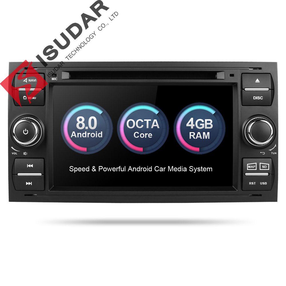Isudar Car Multimedia Player GPS Android 8.0 2 Din For Ford/Mondeo/Focus/Transit/C-MAX Car Radio Bluetooth DVR Autoradio DSP