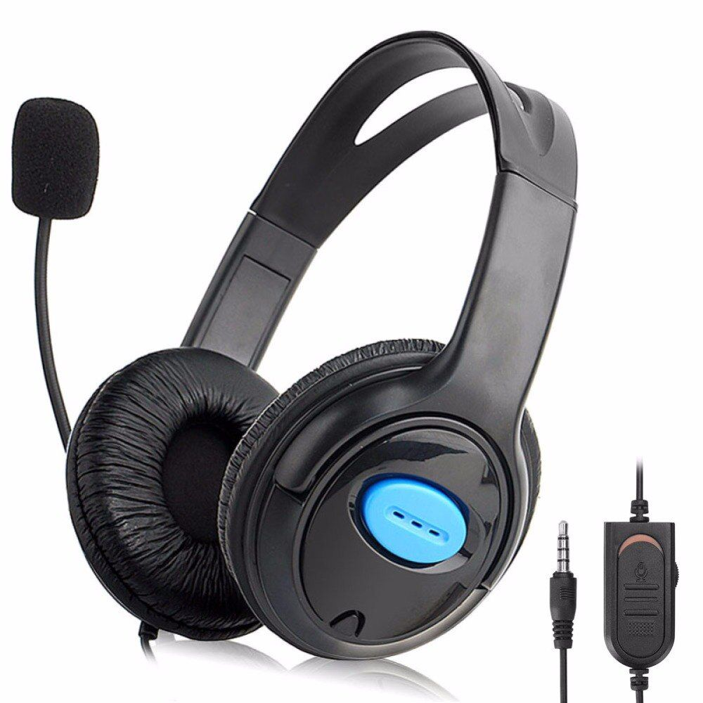 Noise Cancelling 3.5mm Plug 1.2m Wired Gaming Headphone With Rotatable Boom Mic Gaming Headset For PS4 audifonos auriculares