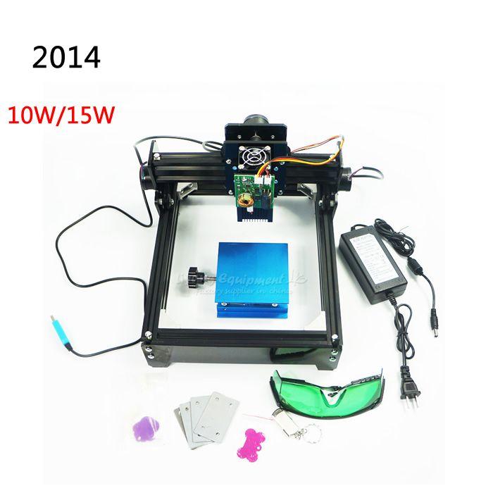 10 Watt/15 Watt DIY cnc laserbeschriftungsanlage arbeitsbereich 14*20 cm für edelstahl, holz, aluminium etc metallmaterial