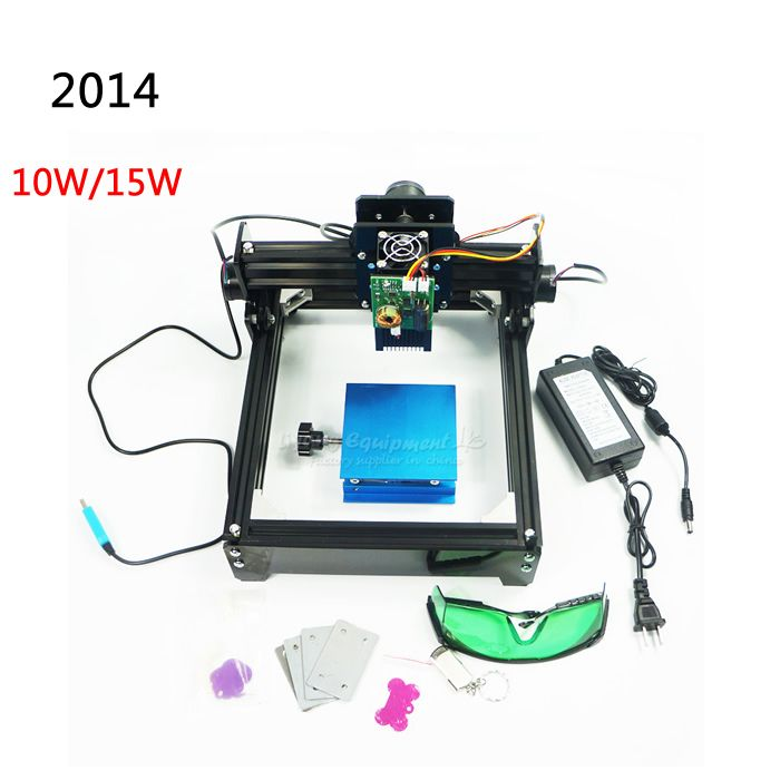 10W/15W DIY cnc laser marking machine work area 14*20cm for stainless steel, wood ,aluminum etc metal material
