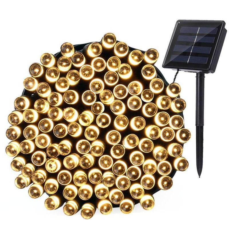 LEDERTEK Top 200 LED Outdoor Solar Lamps LED String Lights Fairy Holiday Christmas Party Garlands Solar Garden Waterproof Lights