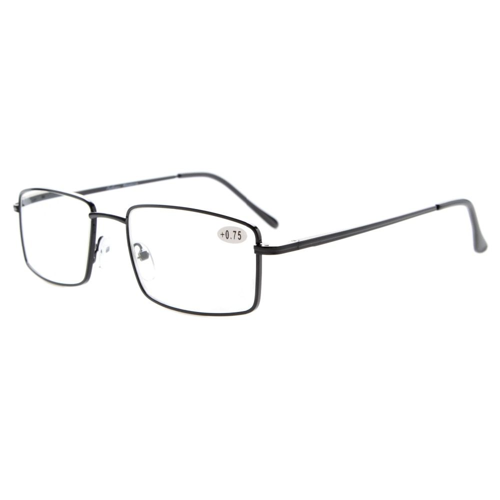 Readers Rectangular Spring Temple Large Metal Reading Glasses +0.50---+4.00 KH401-417