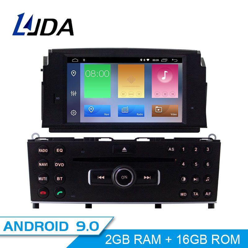 LJDA 1Din Android 9.0 Auto DVD Player Für Mercedes Benz C200 C180 W204 2007 2008 2009 2010 Gps Navigation Stereo Radio multimedia