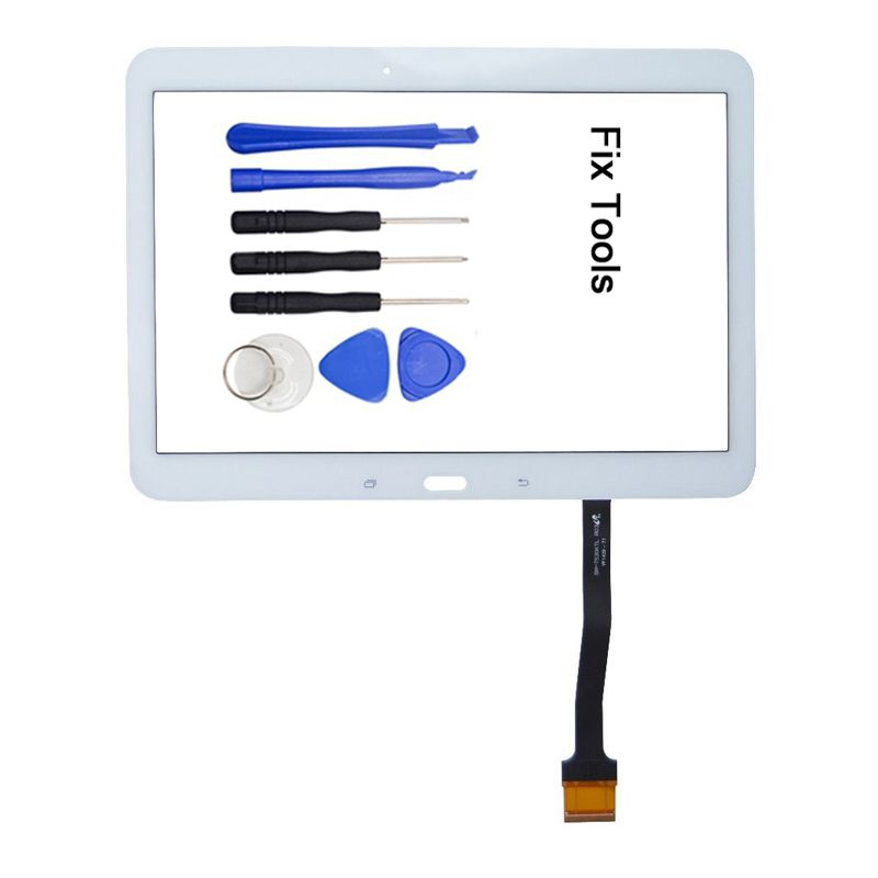 1Pcs For Samsung Galaxy Tab 4 10.1 LTE 3G T530 T531 T532 T533 T535 T536 T537 Touch Screen Digitizer LCD Glass+Adhesive+Tools
