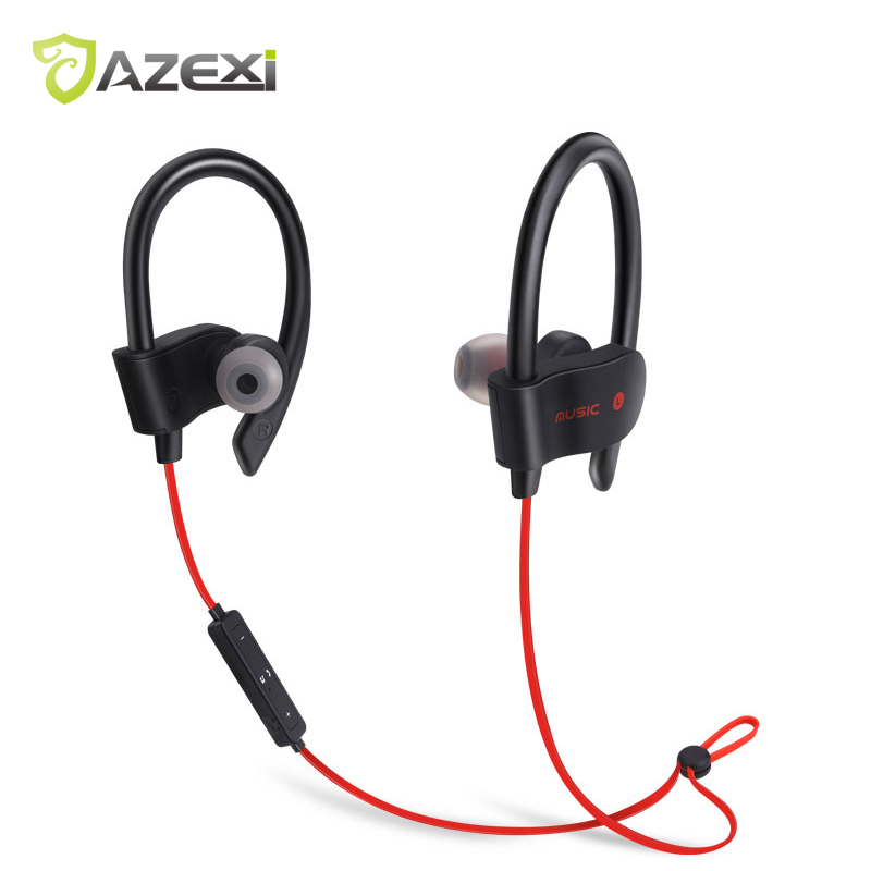 Azexi 56S Sports Bluetooth Earphone Soft Rubber In-ear WirelessNeckband Upgraded Ear Hook Headset with MIC for iPhone 6 Huawei