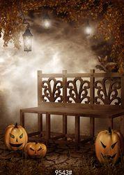Photography background halloween children studio backdrops for photo shoot computer printing Night skeleton step pumpkin 5*7ft