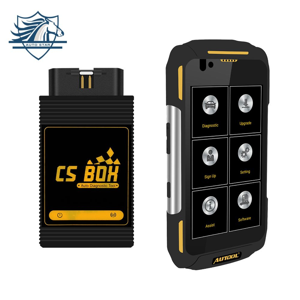 AUTOOL CS BOX Pro WiFi Multi System Diagnostic with Quad core Android 5.1 IP67 Working Platform Water Dust Shock Proof