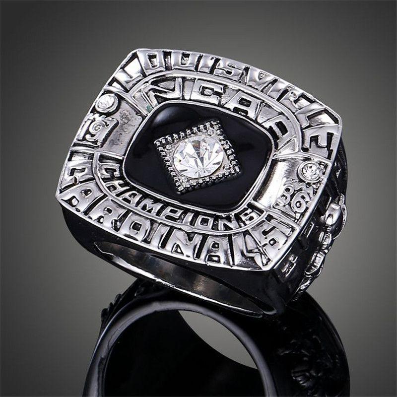 1986 NCAA Louisville Cardinals Basketball National Winners Replica Sports Rings for Men Fashion Imitation Jewelry J02110