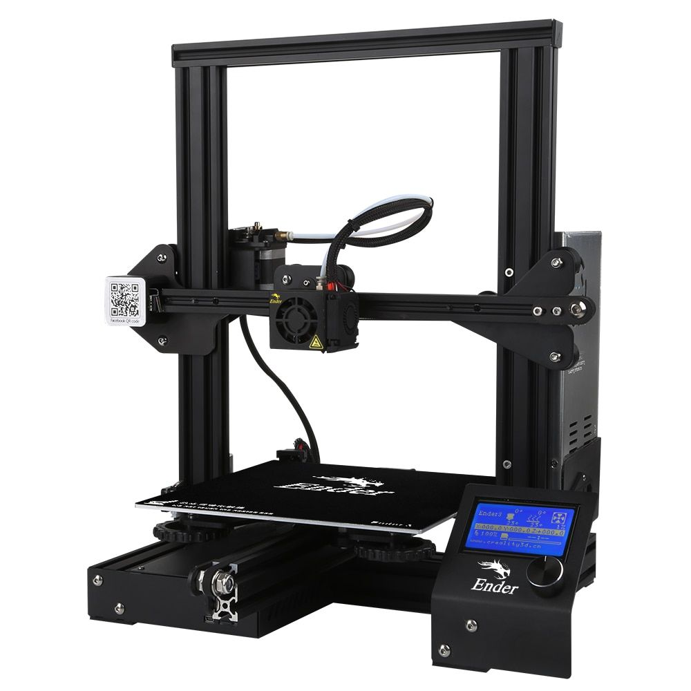 Hot Sale CREALITY 3D Ender-3 Large Print Size 220*220*250mm Prusa 3D Printer DIY Kit Heated Bed Resume Power Off Function