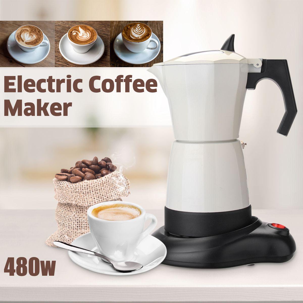 480 watt 6 Tassen Elektrische Tee Kaffee Maker Topf Espresso Cafetera Maschine Mokka Abnehmbare Kaffee Küche Tool Home Büro