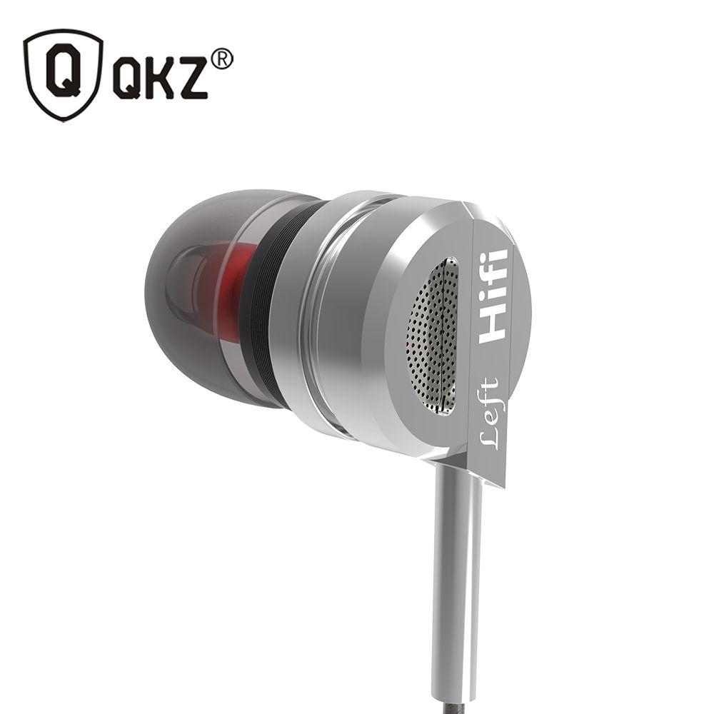Écouteur QKZ DM9 En Alliage de Zinc HiFi Écouteur Dans L'oreille Écouteurs fone de ouvido En Métal de BASSE DJ MP3 Casque auriculaire audifonos stéréo
