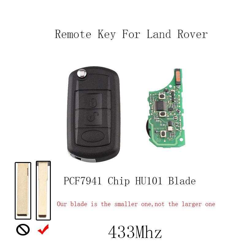 433 mhz 3 Tasten Fernbedienung Auto schlüssel Für Land Rover Discovery 3 LR3 für Range Rover PCF7941 chip & HU101 klinge Original Schlüssel