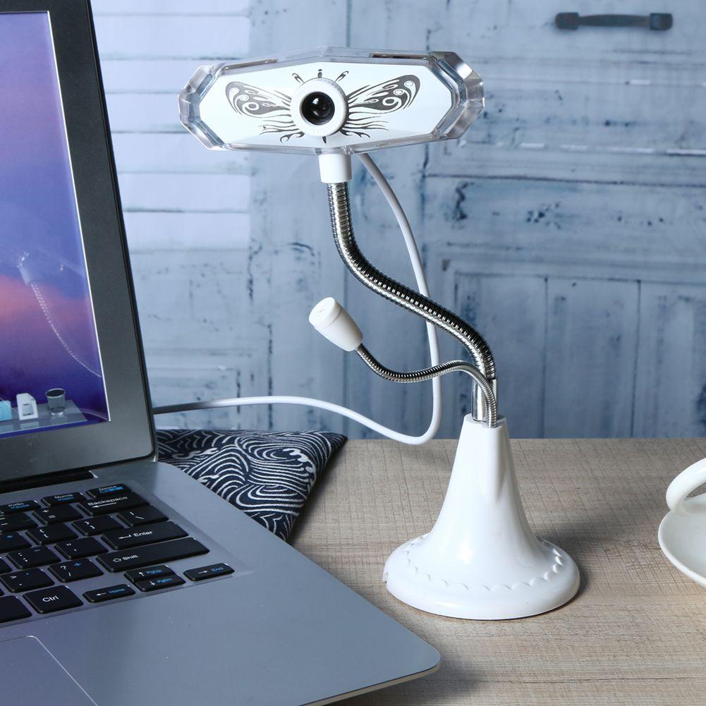 12 Millionen Pixel High-Definition Webcam mit Mikrofon mikrofon Bunte Atem FÜHRTE Licht Digitale für Computer Notebook