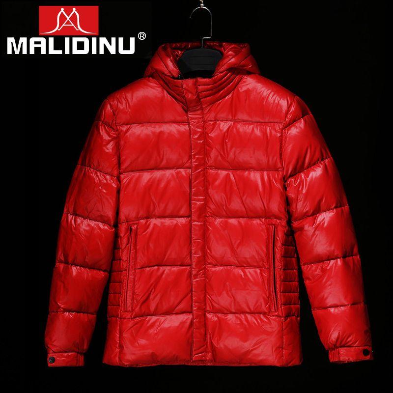 MALIDINU 2018 High Quality Men Down Jacket 70% White Duck Down Winter Thicken Down Coat Parka Tiger European Size Free Shipping