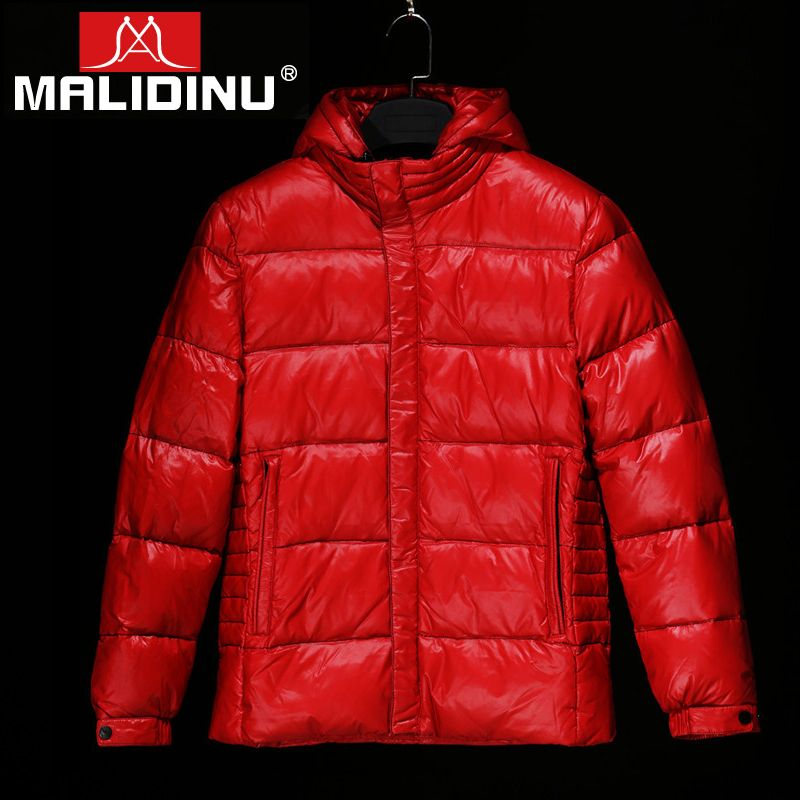 MALIDINU 2018 High Quality Men Down Jacket 70% White Duck Down Winter Thicken Down Coat Parka Tiger European Size Free Shipping
