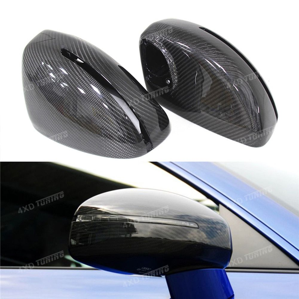 For Audi R8 Carbon Mirror Cover Carbon Fiber Rear Side View Mirror Cover 2007 2008 2009 2010 2011 2012 2013 2014 2015 2016 2017+