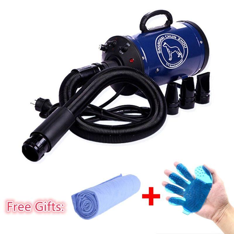 2018 Cheap Dog Grooming Dryer bs2400 Pet Hair Dryer Blower <font><b>220v</b></font>/110v 2400w Eu Plug Pink Blue Color fast to russian