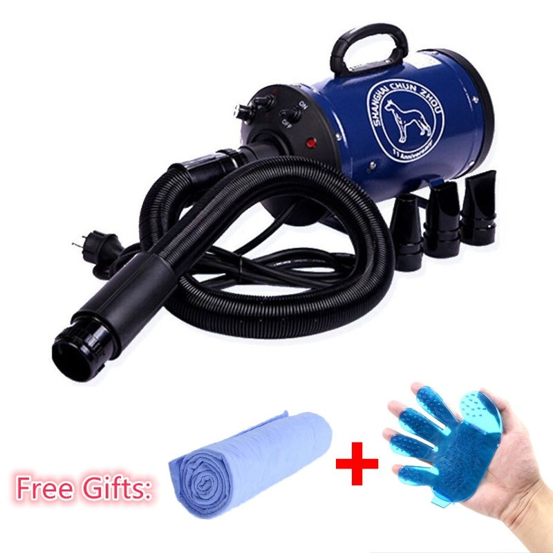 30% 2018 Cheap Dog Grooming Dryer bs2400 Pet Hair Dryer Blower 220v/110v 2400w Eu Plug Pink Blue Color fast to russian