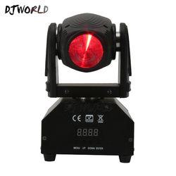 DJWorld 10 W Em Movimento Local Cabeça LEVOU Luces Discoteca Efeito de Iluminação de Palco Para A Noite de Luzes Feixe de Luz DJ KTV Disco muito Professiona