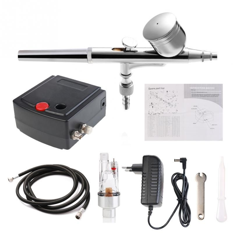 Complete Precision Airbrush Tattoo Tool Set Model Specific Air Pump Kit with Compressor Spray Air Brush Gun Set