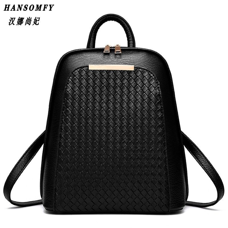 100% Genuine leather Women backpack 2017 New Tide female backpack spring summer students fashion casual Korean women bag