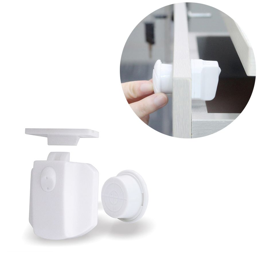 4pcs Baby Safety Child Lock Cabinet Lock Children Protection Kids Magnetic Drawer Locker Baby Security Cupboard Childproof Locks