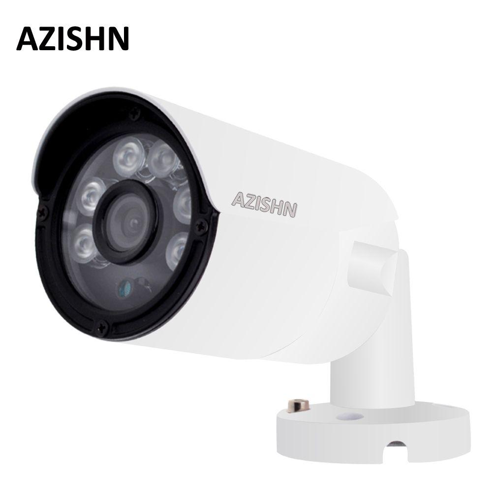 AZISHN 4MP IP Kamera ONVIF H.265/H.264 25fps Überwachung Im Freien IP66 metall CCTV Kamera Hi3516D + 1/3