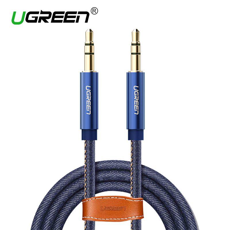 Ugreen Aux Kabel Jack 3,5mm Audio Kabel für honor 9 10 iPhone 6 lg g6 Kopfhörer Lautsprecher Auto Denim Geflochtene Hilfs kabel 3,5mm