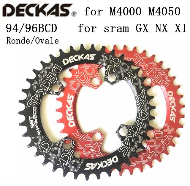 Deckas rond/ovale BCD 94 + 96mm 94 + 96bcd 32/34/36/38 T vtt VTT chaîne de vélo pour manivelle ALIVIO M4000 M4050 GX
