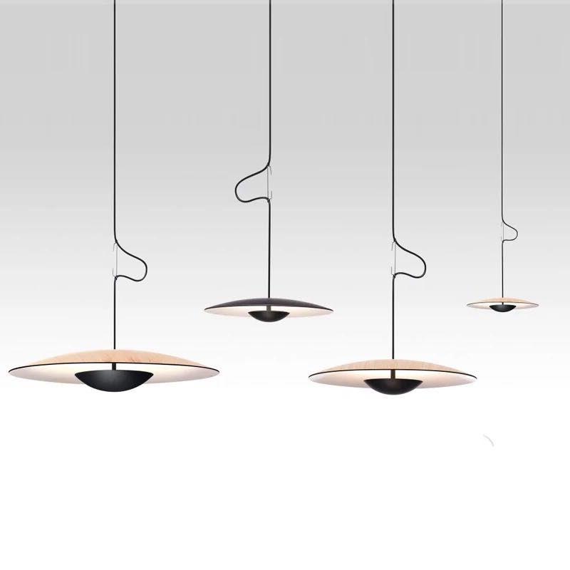 Moderne Samurai Hüte UFO Anhänger Lichter Italienischen Designer Nordic Hängen Lampen für Wohnzimmer Esszimmer Küche Untertasse Leuchten