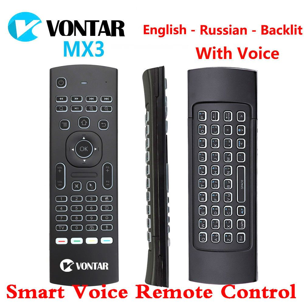 MX3 Air Mouse Smart Voice Remote Control Backlit MX3 Pro 2.4G Wireless Keyboard IR Learning For Android Box T9 H96 Max X96 mini