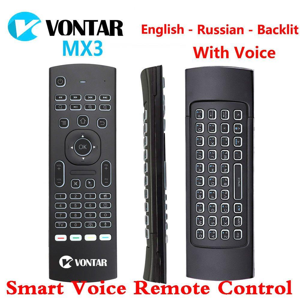 MX3 Air souris télécommande vocale intelligente rétro-éclairé MX3 Pro 2.4G clavier sans fil IR apprentissage pour Android Box T9 H96 Max X96 mini