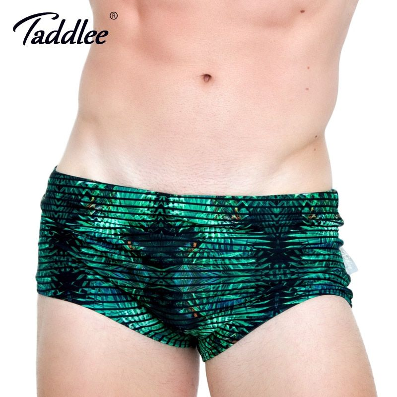 Taddlee Brand Sexy Men's Swimwear Swimsuits Swim Boxer Brief Bikini Gay Low Waist 2017 New Design 3D Printed Beach Board Shorts