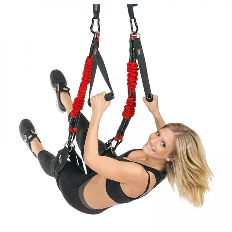 4D Pull Rope Resistance Bands PRO Anti-gravity Aerial Pilates Bungee Straps Hanging Suspension Rope Workout Fitness Trainer Cord