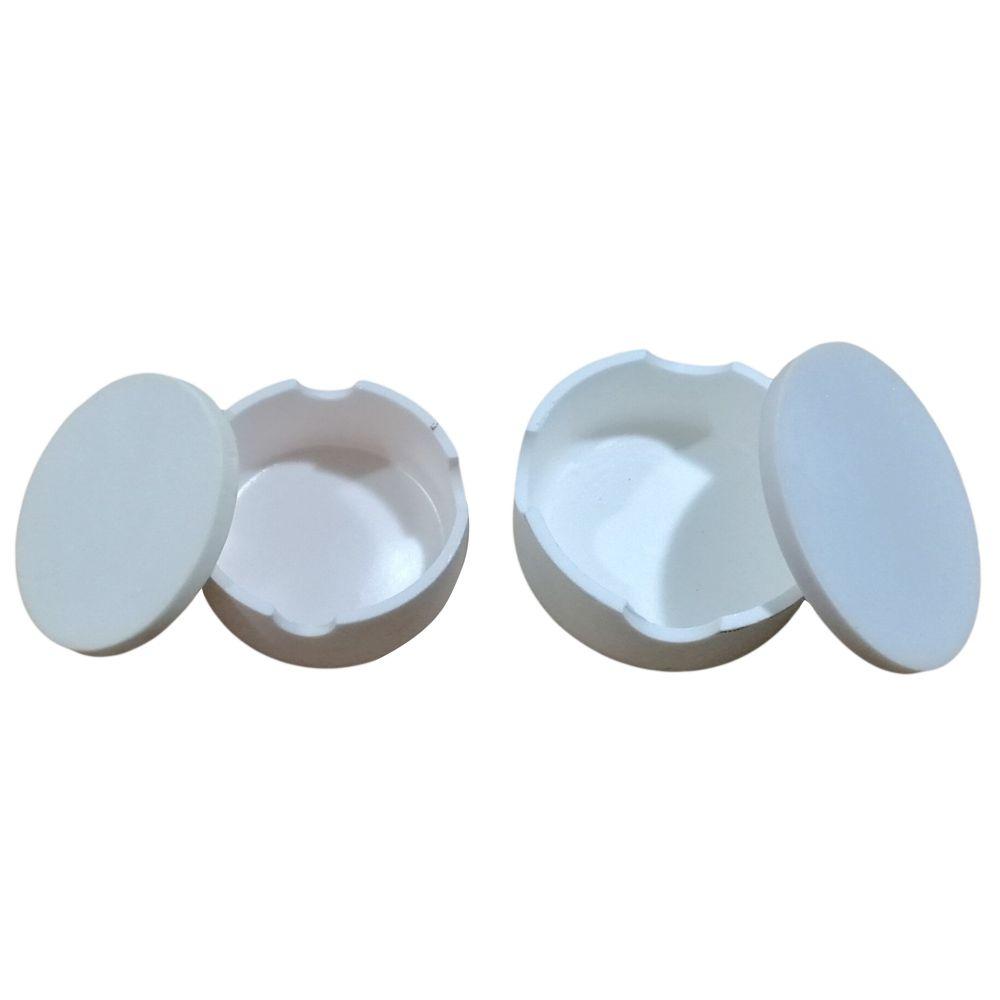 1 pc laboratoire dentaire CAD creuset pour couronnes zircone creuset dentaire fritté creuset avec couvercle forme ronde tenant des perles dans le four