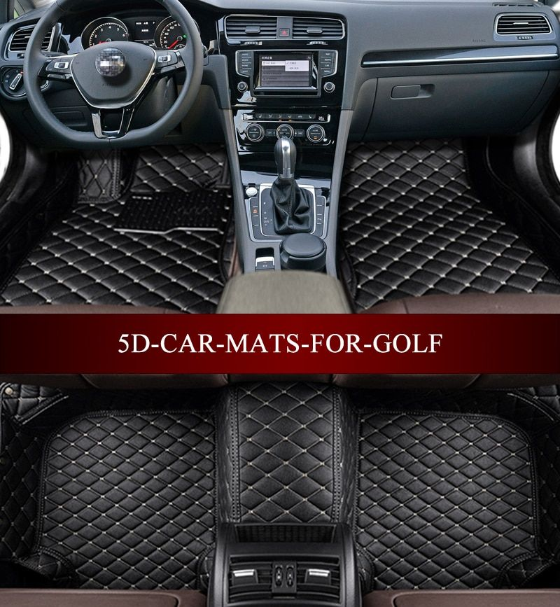 Car floor mats for Volkswagen Golf e-Golf R GTI GLI 5th 6th 7th 2004-2017Hatchback 5D waterproof custom fit car liners foot mats