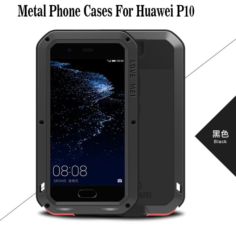 Love Mei Huawei P10 Case Powerful Metal Shockproof Gorilla Glass Full Phone Case For Huawei P10 Funda